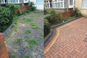 Patio and driveway restoration and cleaning.
